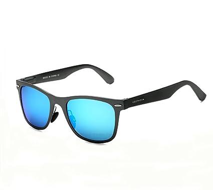 VEITHDIA - Lunettes de soleil - Homme bleu bleu/noir 5AxjlQ