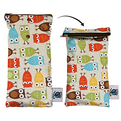 Planet Wise Wipe Pouch, Owl (Planetwise Wet Bag)