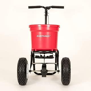 product image for Earthway 2150 Commercial 50-Pound Walk-Behind Broadcast Spreader, Garden Seeder, Salt Spreader - Made in America,Red