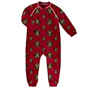 Outerstuff MLS Atlanta United Boys Sleepwear Zip Up Coverall, Victory Red, Tall (2)