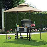 OPEN BOX- 8 x 5 Bamboo Look BBQ Gazebo Replacement Canopy Top Cover