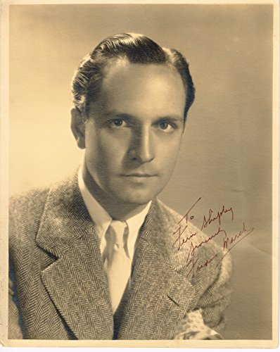 (FREDRIC MARCH signed 1934 8x10 dbl weight mat finish Photo)