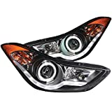 Anzo 121456 Black/Clear/Amber Halogen Projector Headlight...