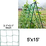 Mr.Garden Heavy-duty PE Plant Trellis Netting Green Garden Netting 3.15'' W5'xL15'