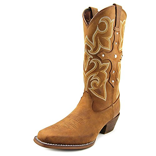 Durango Women's Crush 13 Inch Jealousy Western Boot, Distressed Brown, 6.5 M US
