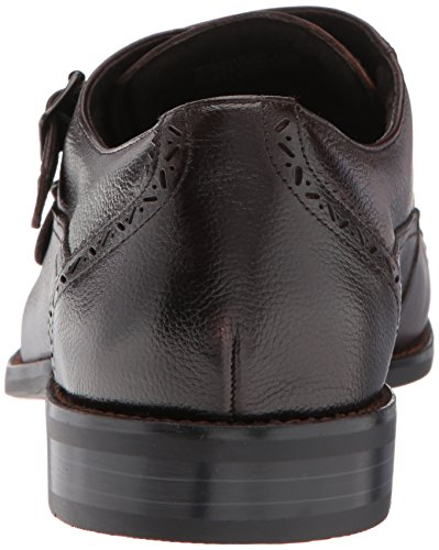 Stacy Adams Mens Gamon Cap Toe Double Monk Strap Oxford Brown Tumbled Ht1Ts3RM