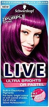 Tinte de pelo Schwarzkopf Live Ultra tarro de 094 morado Punk