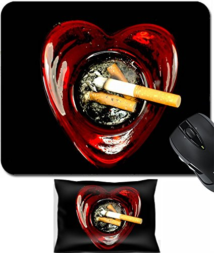 MSD Mouse Wrist Rest and Small Mousepad Set, 2pc Wrist Support design 20462555 butts in a Heart Shaped ashtray