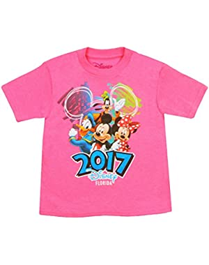 Toddlers Exclusive Florida 2017 Disney Scribble 4 T-Shirt