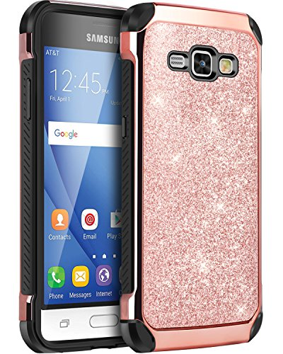 Galaxy Express 3 Case, Galaxy Luna Case, Galaxy J1 2016 Case, Galaxy Amp 2 Case, BENTBOEN Dual Layer Glitter Chrome...  samsung express 3 case | My Phone Case Collection! (Samsung Galaxy s3) 51pQI0PDfqL
