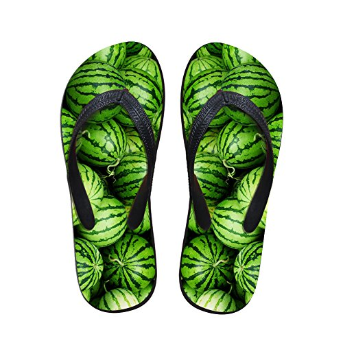 TOREEP Unisex Rectangle Funny Colorful Fruit Bathroom Slippers Special Flip Flops(Fruit Two,Women Size US5 B(M)) (Essie Champagne Nail Polish)