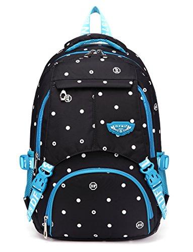 Girls School Backpacks for Kids Children Elementary School Bags Bookbags(Black & (Black Elementary School)