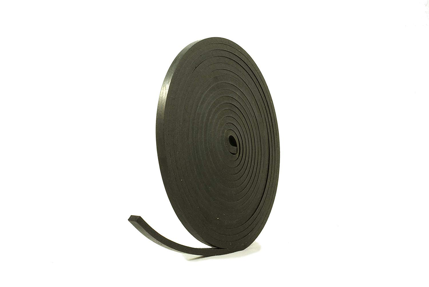 Solid Neoprene Black Rubber Strip 10mm wide x 8mm thick x 5m long