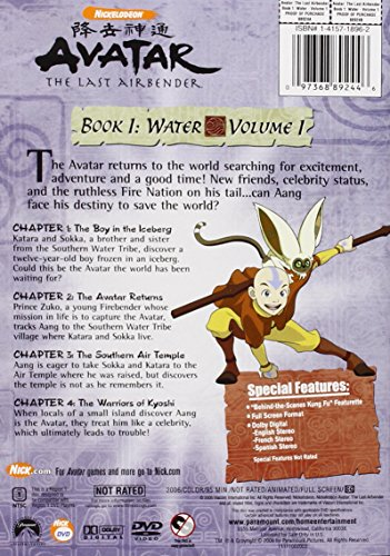Avatar The Last Airbender - Book 1 Water, Vol. 1