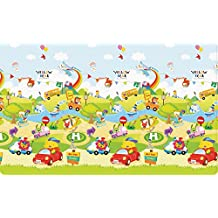 JTI - PARKLON BABY SOFT PLAY MAT LARGE - ZOOM ZOOM CAR SOFT NON TOXIC PLAY MAT (210X140X1.2cm)