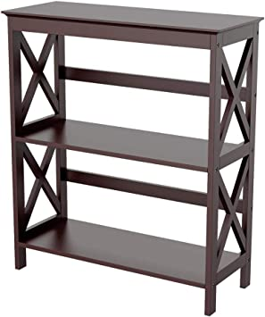 3-Tier Solid Wood Bookcase Bookshelf Cube Unit Shelf Shelving Storage Cabinet