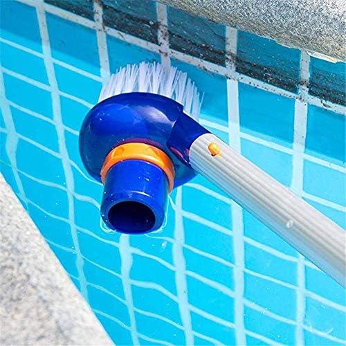 8,27 2,95 Zoll Poolbürste für Wände, Reinigungsbürste mit Griff für Poolecken Treppen, Korrosionsschutz Langlebige Poolreiniger Nylon-Bürste