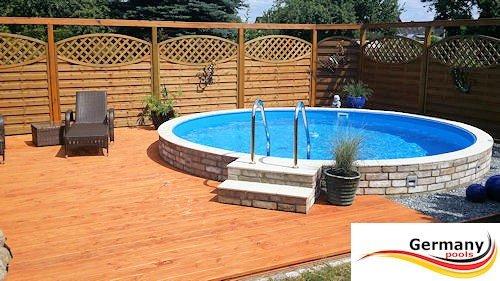 Stahlwandpool teilversenkt  Pool 3,60 x 1,25 Rundpool Stahlwandpool Swimmingpool 3,6 x 1,2 ...