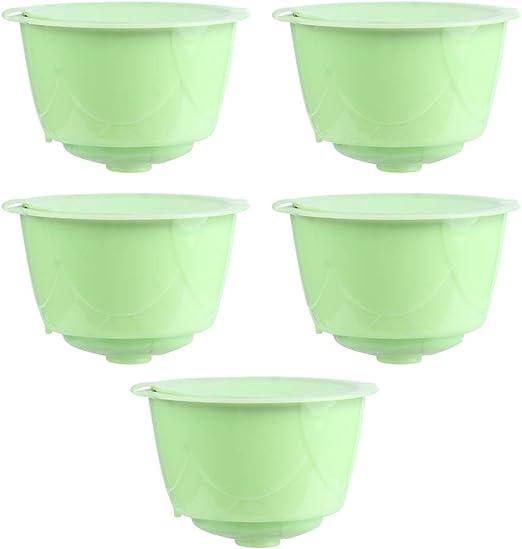 Jeffergarden 5 Piezas Reutilizables Grado alimenticio Reutilizable café cápsula Filtro cafetera Accesorios para Dolce Gusto: Amazon.es: Hogar
