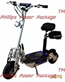 Super Cycles & Scooters - Super Lithium 1300 Brushless - Electric Scooter - 2-Wheel, Silver - PHILLIPS POWER PACKAGE TM - TO $500 VALUE