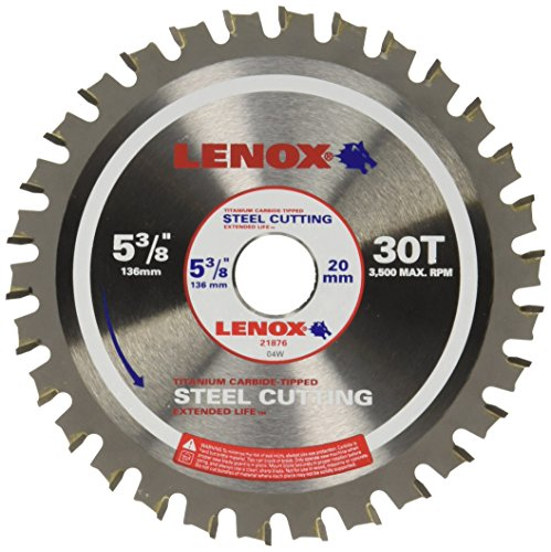 (LENOX Tools Circular Saw Blade, Steel-Cutting, 5 3/8-inch, 30T (21876ST538030CT) )