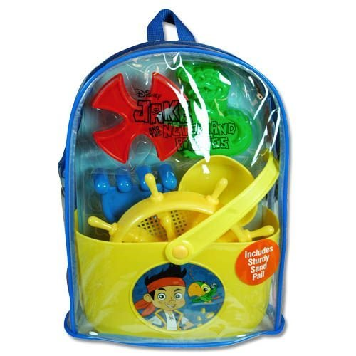 Jake and The Neverlands pirates sun and sand Vinyl Backpack Set