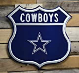 Fremont Die NFL Dallas Cowboys Route Sign, Vintage