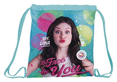 Soy Luna , Borsa da spiaggia  Unisex Azul/Rosa 40 cm