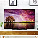 Jiahonghome Dust Resistant Television Protector Supernatural Sky Scenery with Mystical Northern Solar Lights and Star Clusters Neat Photo tv dust Cover W20 x H40 INCH/TV 40''-43''