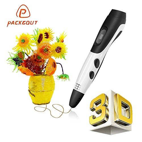 3D Pen, PACKGOUT 2017 Newest Version 3D Doodler Pen Kits 3D Printing Pen with LCD Display PLA Filament Refills for Adults, Doodling, Artist, Girls, DIY, Drawing