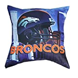 Northwest Denver Broncos Real Photo Throw Pillow