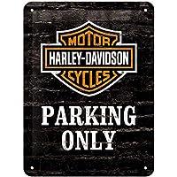 Nostalgic-Art Harley-Davidson - Señal de Aparcamiento Lata Solamente