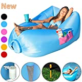 X-Lounger Inflatable Lounger with Air Valve, Fast Inflate by Pump or Wind Bag with Mesh, the Lightest Nylon