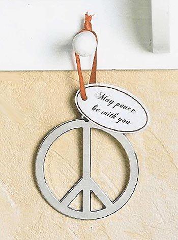 Amazon Beautiful 3 Metal Peace Sign Christmas Tree Ornament