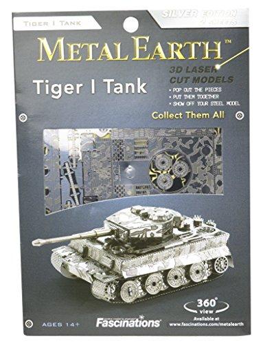 Fascinations Metal Earth Tiger I Tank 3D Metal Model Kit