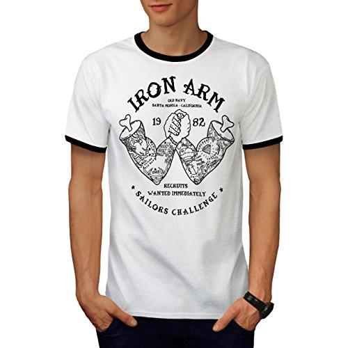Sailors Challenge Iron Arm Game Men S Ringer T-shirt   Wellcoda - Sled Hockey Sticks