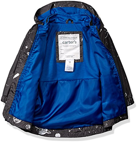 Boys Rainslicker Print Alternative Space Rain Baby Carter's Jacket Jacket Favorite His Down Grey qw5Sg