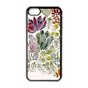 iPhone 5c Cell Phone Case Black Succulents KQ3438994