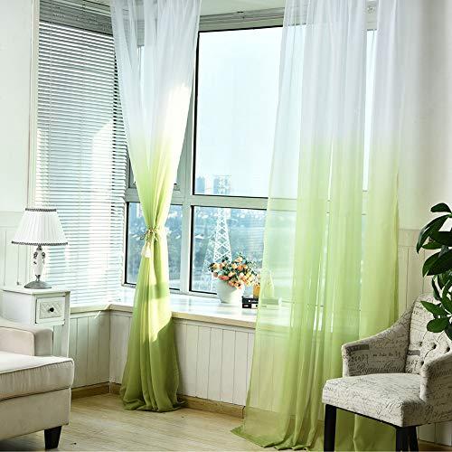 BeautyShe Piece Sheer Voile Window Curtain Panels for Bedroom & Living Room 3.3x8.86ft