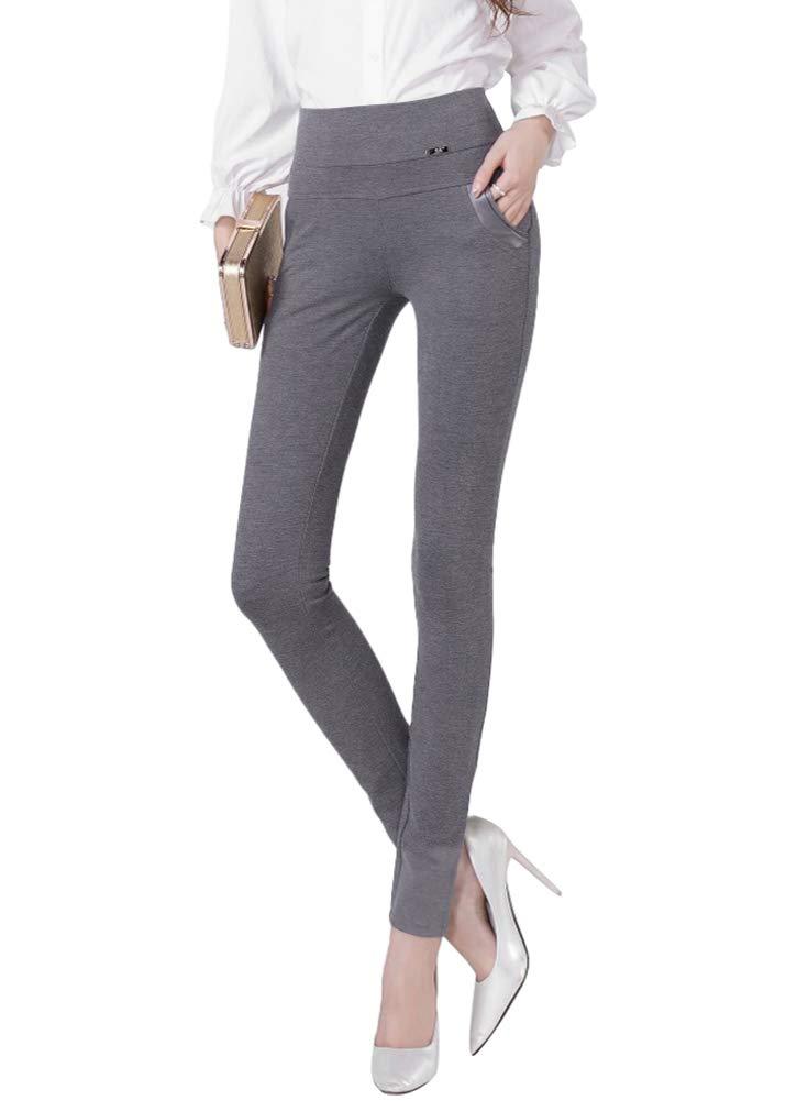 Smibra Womens Business Dress Pants Stretch Comfortable Fit Pencil Trousers Pockets