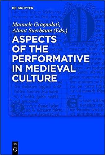 Resultado de imagen de Aspects of the Performative in Medieval Culture