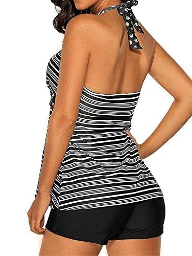 5d4fbc7a5e62e Urban Virgin Women's Bandage Plus Size Top Sexy Retro Tankini Two Piece  Swimsuit With Boy-Short