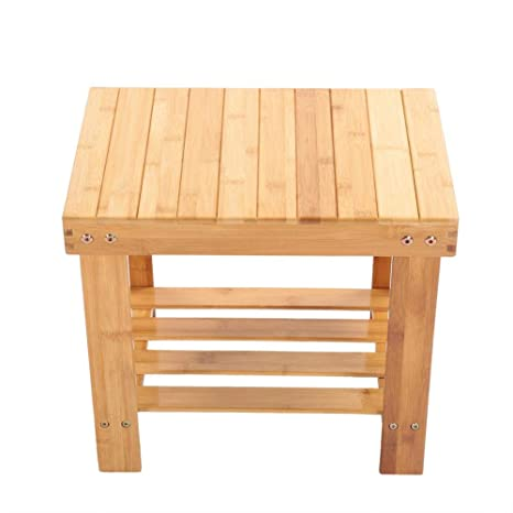 Astounding Ebtools Bamboo Step Stool Portable Wooden Storage Bench Beatyapartments Chair Design Images Beatyapartmentscom