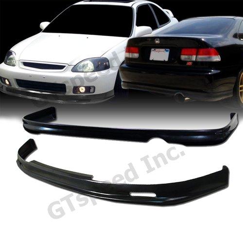 Usdm Type (COMBO SET - 1999-2000 HONDA CIVIC Coupe Sedan Type-M Style PU FRONT & REAR Bumper Lip)