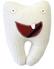 Cate & Levi - Handmade Tooth Pillow Pal - Eco-Friendly Premium Reclaimed Wool (White)