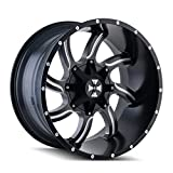 off road truck rims - Cali Offroad Twisted 20 Black Wheel / Rim 5x5 & 5x5.5 with a 0mm Offset and a 87 Hub Bore. Partnumber 9102-2952M0