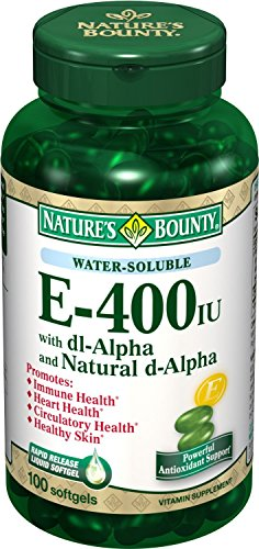 Nature's Bounty Vitamin E-400 IU Softgels 100 EA (PACK OF 4)