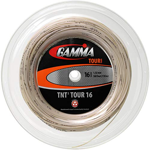 Gamma TNT2 Tour Reel 16G Tennis String, Natural
