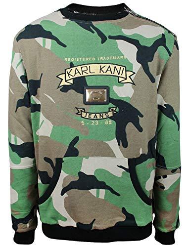 KARL KANI ENDURANCE NYLON JOGGER TRACK PANTS ATHLETIC FIT WHITE MENS