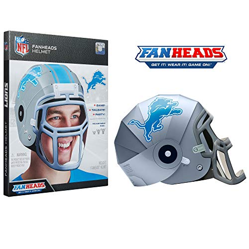 FanHeads Detroit Lions - Wearable NFL Replica Helmets - Pick Your Team!, Red ()